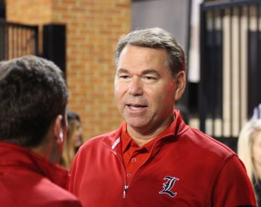Vince Tyra Louisville vs. Wake Forest 10-12-2019 TheCrunchZone.com, Photo by Drew Poynter