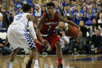 Quentin Snider Louisville vs. Kentucky Basketball 12-26-2015 Photo by William Caudill