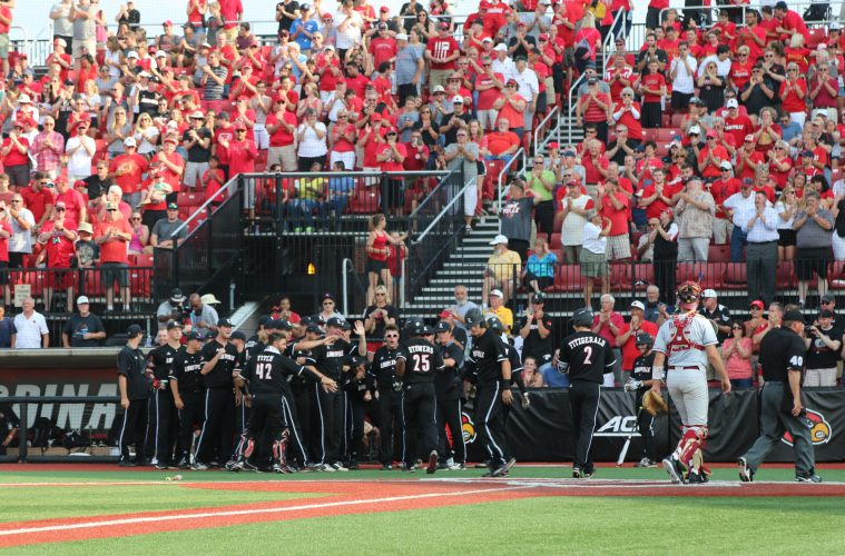 Josh Stowers Louisville Baseball vs. Florida State 5-18-2017 Photo by William Caudill TheCrunchZone.com