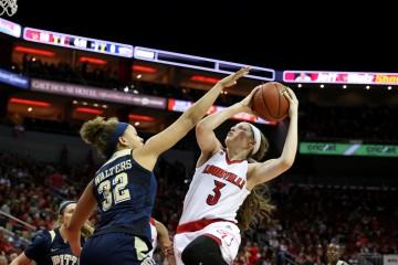 Sam Fuehring Star Wars Night Louisville Women's Basketball vs. Pitt 2-28-2016 Photo by William Caudill