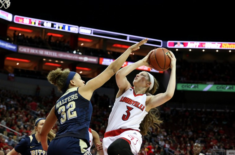 Sam Fuehring Star Wars Night Louisville Women's Basketball vs. Pitt 2-28-2016 Photo by William Caudill