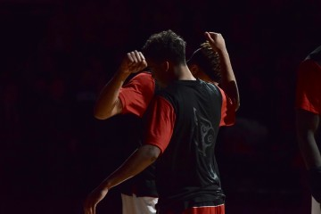Quentin Snider, Damion Lee Louisville vs. Grand Canyon 12-5-2015 Photo by Seth Bloom