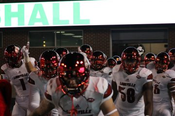 Entrance Louisville vs. Marshall 9/24/2016 Photo by Mark Blankenbaker