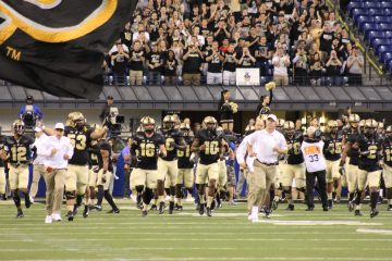 Jeff Brohm, Purdue Entrance Louisville Football vs. Purdue 9-2-2017 Photo by Mark Blankenbaker, TheCrunchZone.com