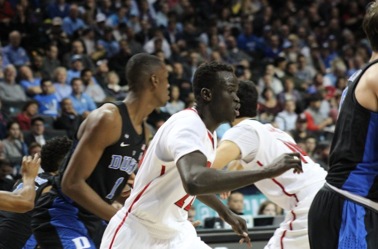 Deng Adel Louisville vs. Duke 3-9-2017 Photo by Mark Blankenbaker TheCrunchZone.com