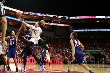 Briahanna Jackson Louisville vs. Evansville 12-18-2016 Photo by William Caudill TheCrunchZone.com