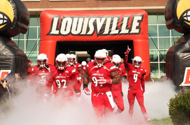 Khane Pass, Devonte Fields, DeAngelo Brown, Traveon Samuel Entrance Louisville vs. Syracuse 11-7-2015 Photo by William Caudill