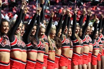 Cheerleaders Louisville vs. Virginia 11-14-2015 Photo by William Caudill