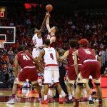 Ray Spalding Tip-off Louisville vs. Boston College 1-21-2018 Photo by William Caudill, TheCrunchZone.com