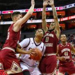 Dwayne Sutton Louisville vs. Boston College 1-21-2018 Photo by William Caudill, TheCrunchZone.com