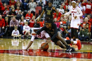 Jazmine Jones Louisville vs. Florida State 1-21-2018 Photo by William Caudill, TheCrunchZone.com