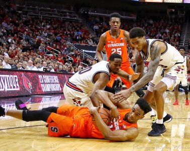 Ray Spalding, VJ King Louisville vs. Syracuse 2-5-2018 Photo by William Caudill, TheCrunchZone.com
