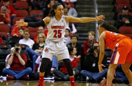 Asia Durr Louisville vs. Clemson 2-7-2018 Photo by William Caudill, TheCrunchZone.com