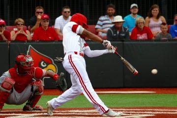 Corey Ray Louisville vs. Ohio State 6-4-2016 Photo by William Caudill