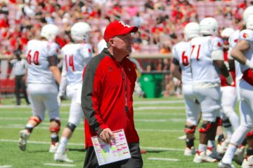 Bobby Petrino Spring Game 4-16-2016 Photo by William Caudill