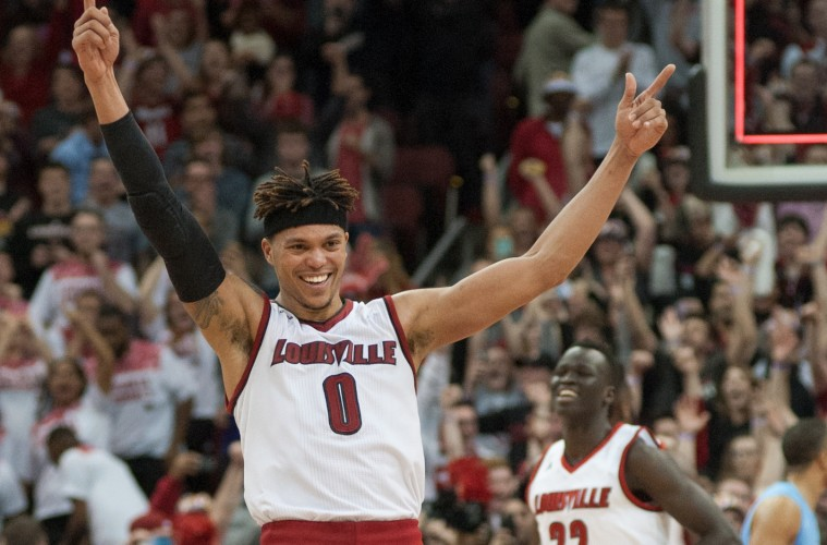 Damion Lee Louisville vs. North Carolina 2-1-2016 Photo Courtesy of Wade Morgen
