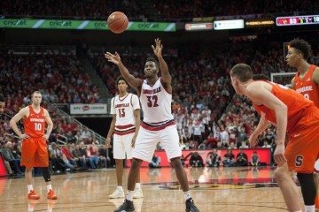 Chinanu Onuaku Louisville vs. Syracuse 2016 Photo by Wade Morgen