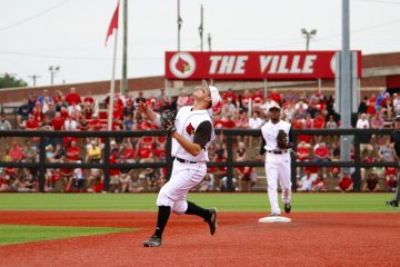 Nick Solak & Devin Hairston Louisville vs. Western Michigan 6-3-2016 Photo by William Caudill