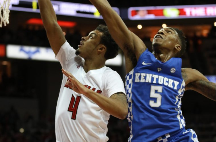 Quentin Snider Louisville vs. Kentucky 12-21-2016 Photo by William Caudill TheCrunchZone.com
