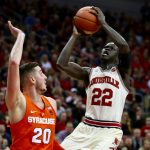 Deng Adel Louisville vs. Syracuse 2-26-2017 Photo by William Caudill TheCrunchZone.com