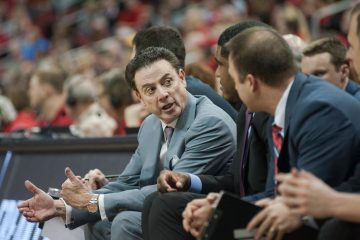 Rick Pitino Louisville vs. Miami 2-11-2017 Photo By Wade Morgen TheCrunchZone.com