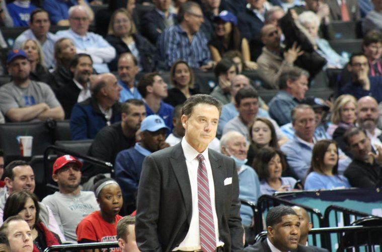 Rick Pitino Louisville vs. Duke 3-9-2017 Photo by Mark Blankenbaker TheCrunchZone.com