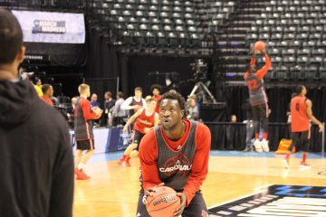 Mathiang Mangok Louisville Basketball Open Practice NCAA 1st Round 3-16-2017 Photo by Mark Blankenbaker