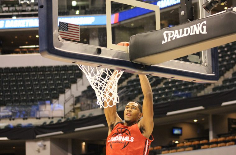 VJ King Louisville Basketball Open Practice NCAA 1st Round 3-16-2017 Photo by Mark Blankenbaker