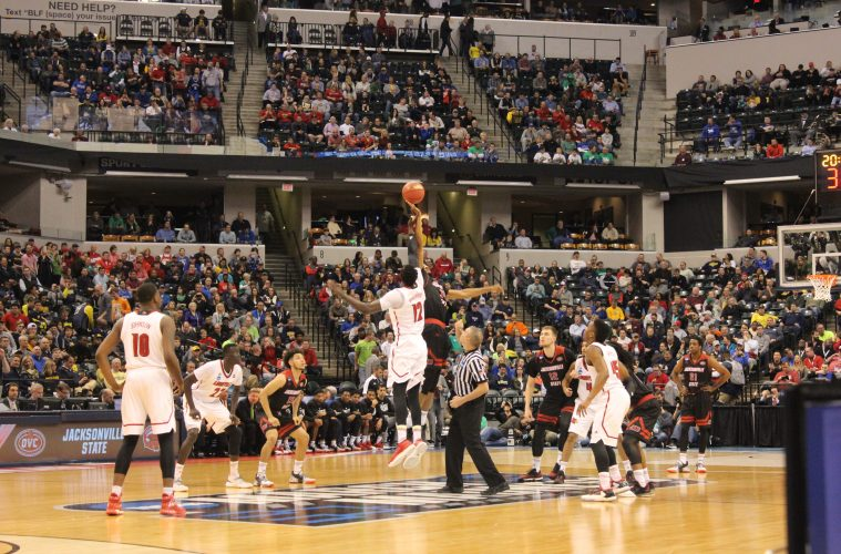Mangok Mathiang Tip-Off Louisville vs. Jacksonville State Banker's Life Field House Indianapolis NCAA 1st Round 3-16-2017 Photo by Mark Blankenbaker
