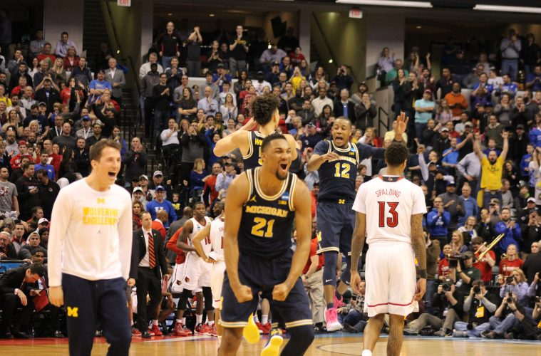 Louisville vs. Michigan Banker's Life Field House Indianapolis NCAA 2nd Round 3-19-2017 Photo by Mark Blankenbaker