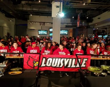 Louisville Women's Basketball Watch Party 3-14-2017 Photo by Daryl Foust TheCrunchZone.com