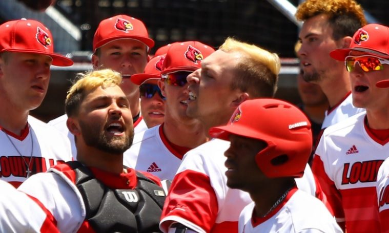 Drew Ellis Louisville Baseball vs. Kentucky NCAA Super Regional 6-9-2017 Photo by William Caudill TheCrunchZone.com