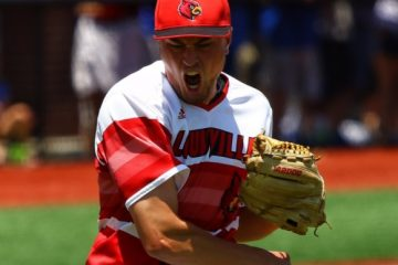 Kade McClure Louisville Baseball vs. Kentucky NCAA Super Regional 6-9-2017 Photo by William Caudill TheCrunchZone.com