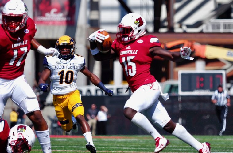 Trumaine Washington Louisville Football vs. Kent State 9-23-2017 Photo by Cindy Rice Shelton, TheCrunchZone.com