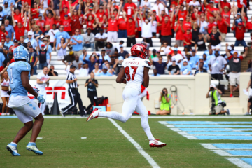 Dez Fitzpatrick Touchdown Louisville Football vs. North Carolina 9-9-2017 Photo by Cindy Rice Shelton, TheCrunchZone.com
