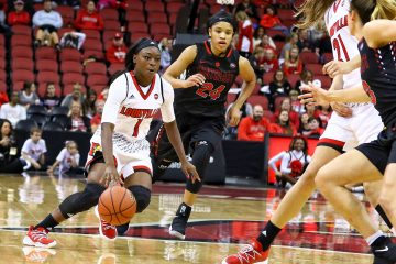 Dana Evans Louisville vs. Southeast Missouri by William Caudill, 11-10-2017, TheCrunchZone.com