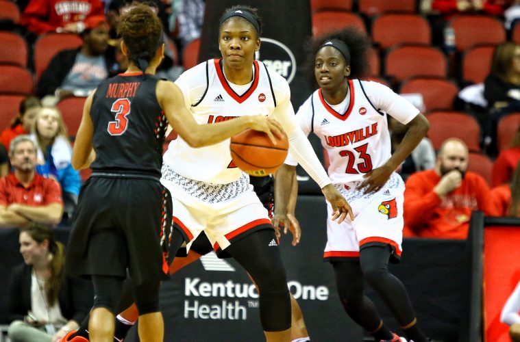 Myisha Hines-Allen Louisville vs. Southeast Missouri by William Caudill, 11-10-2017, TheCrunchZone.com