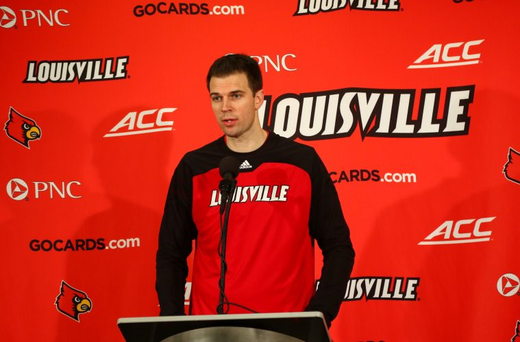 David Padgett Louisville vs. Pittsburgh 1-2-2018 Photo by William Caudill, TheCrunchZone.com