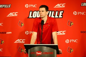 David Padgett Louisville vs. Wake Forest 1-27-2018 Photo by William Caudill, TheCrunchZone.com