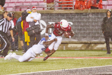 Malik Cunningham (Football) Louisville vs. Indiana State, 9-8-2018. Photo by William Caudill, TheCrunchZone.com