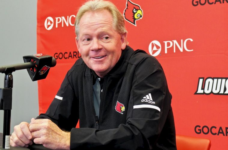 Bobby Petrino Previews Indiana State 9-3-2018 Photo by Cindy Rice Shelton TheCrunchZone.com