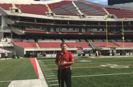 Vince Tyra North End Zone Expansion Cardinal Stadium 9-5-2018. Photo by Mark Blankenbaker, TheCrunchZone.com