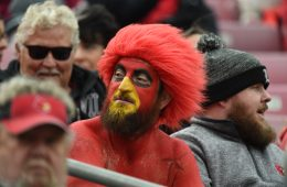 Gary the Redbird Louisville vs. Wake Forest 10-27-2018 Photo by Austin Sullivan TheCrunchZone.com