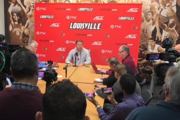Vince Tyra Fires Bobby Petrino 11-11-2018 Photo by William Caudill, TheCrunchZone.com