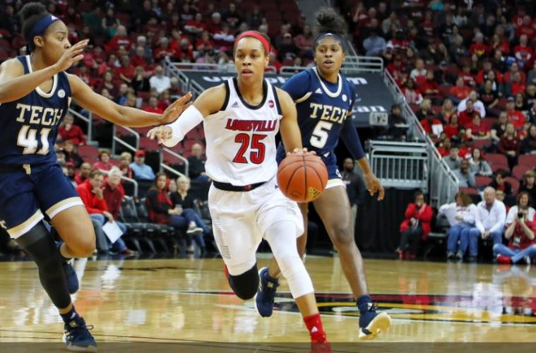 Asia Durr Louisville vs. Georgia Tech 1-13-2019 Photo by William Caudill TheCrunchZone.com