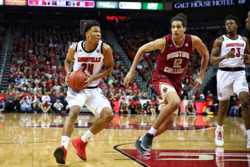 Dwayne Sutton Louisville vs. Boston College 1-16-2019 Photo by William Caudill TheCrunchZone.com