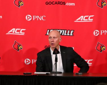 Chris Mack Louisville vs. NC State Post-Game 1-24-2019 Photo by William Caudill, TheCrunchZone.com