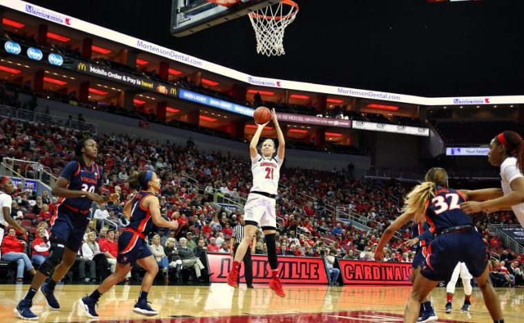 Kylee Shook Louisville vs. Virginia 1-17-2019 Photo by William Caudill TheCrunchZone.com