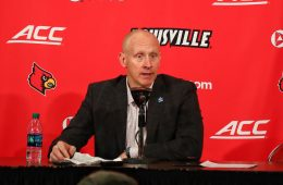 Chris Mack Louisville vs. Clemson, 2-16-2019, Photo by William Caudill, TheCrunchZone.com