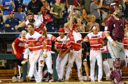 Louisville Baseball vs. Mississippi State 6-20-2019 Photo by William Caudill, TheCrunchZone.com TD Ameritrade College World Series, Omaha, NE